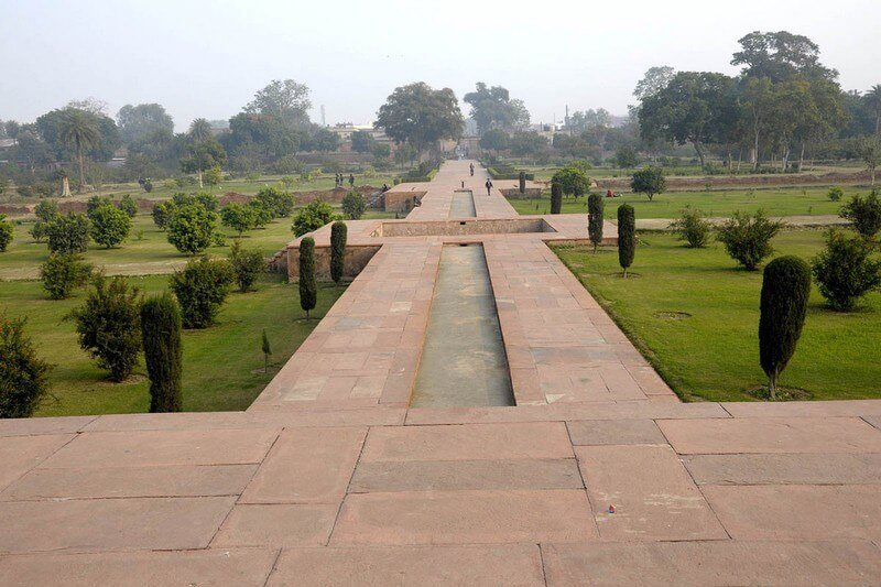 Ram Bagh Garden divided into four water bodies