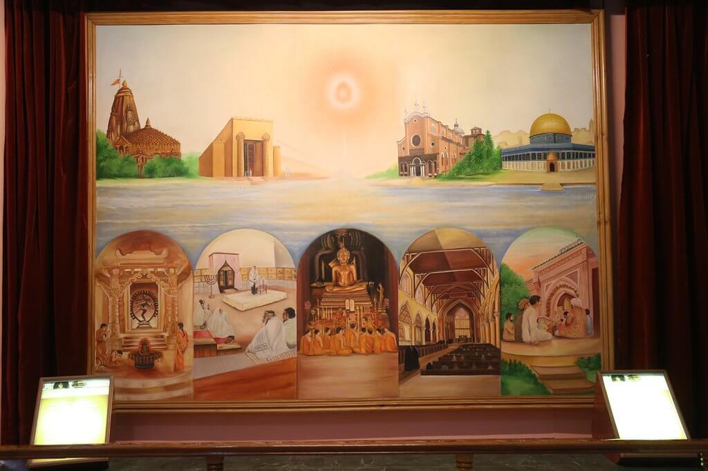 Inside Spiritual Museum of Agra