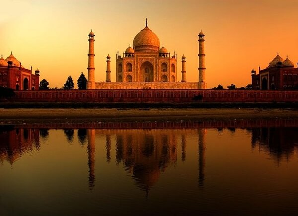 Taj Mahal Sunset View