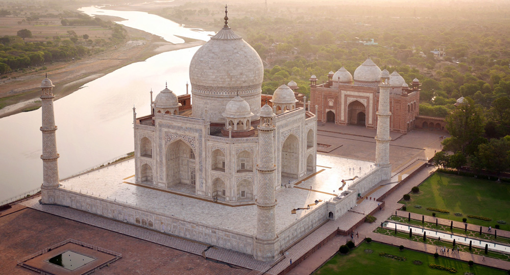 Taj Mahal on River Ganga