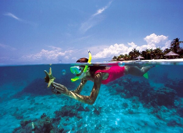 snorkeling at Coral Island