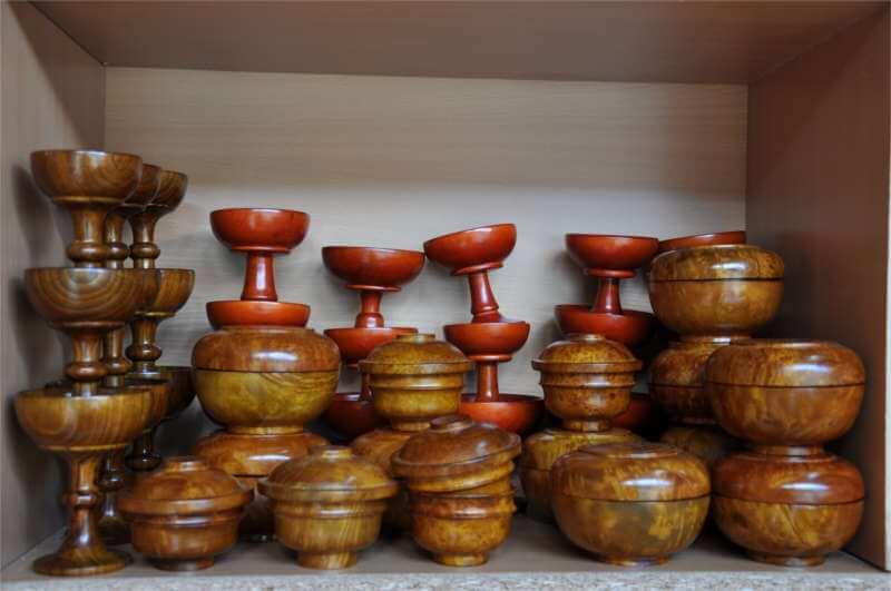 Handmade Wooden Bowls, Bhutan