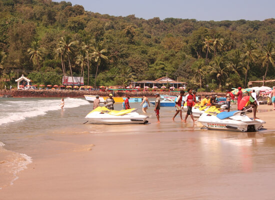 Baga Beach Goa Attractions Water Sports Activities Distance