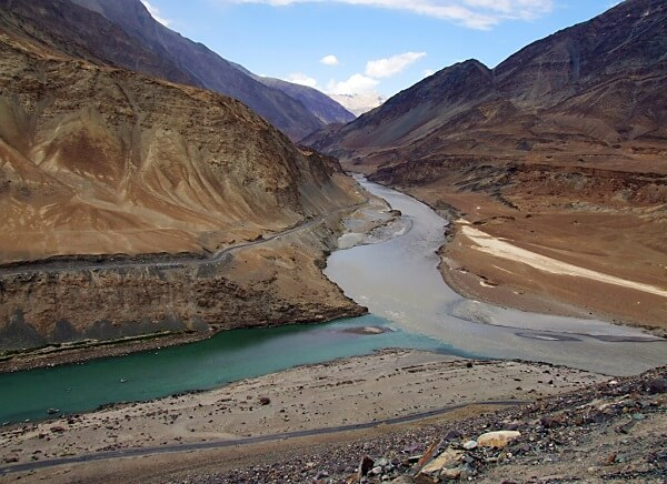 Sangam of Zanskar and Indus River