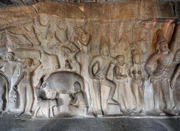 Krishna Mandapam, Mahabalipuram