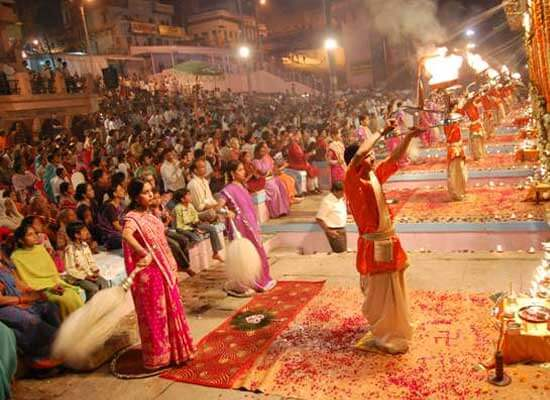 Aarti, Varanasi trip by Maharajas Express