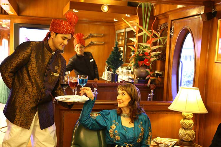 Rajah Club Lounge and Bar in Maharaja Express
