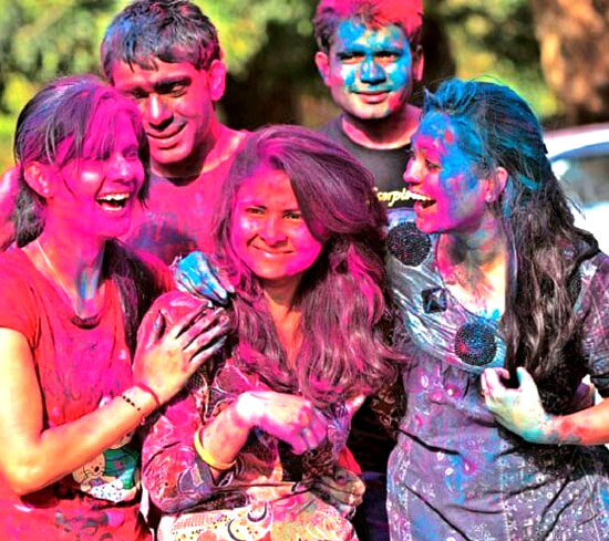 Holi Celebration in Delhi (10 March 2020)