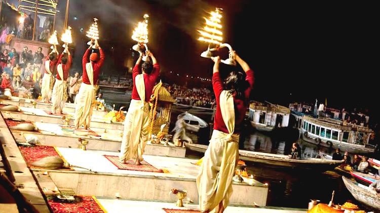Morning Aarti at Varanasi