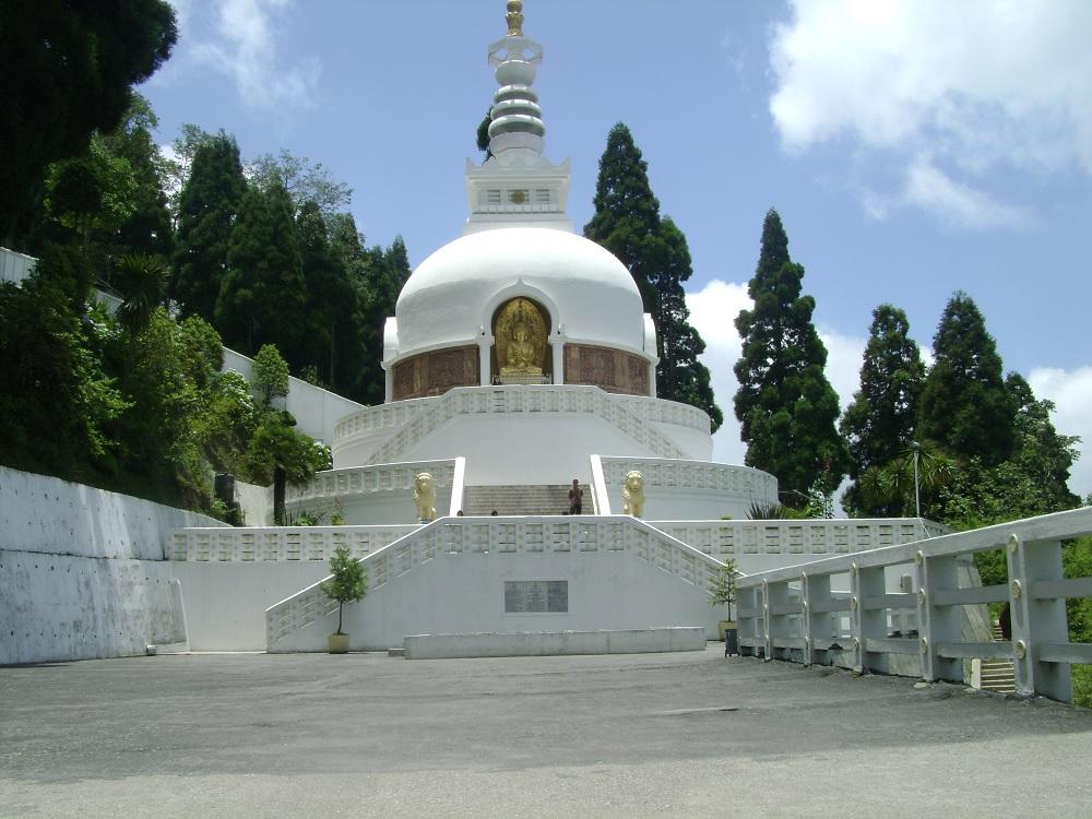 Peace Pagoda Temple Darjeeling