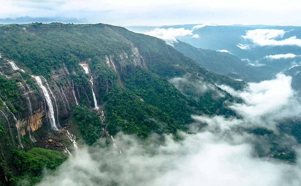 Seven Sister Falls, Cherrapunji