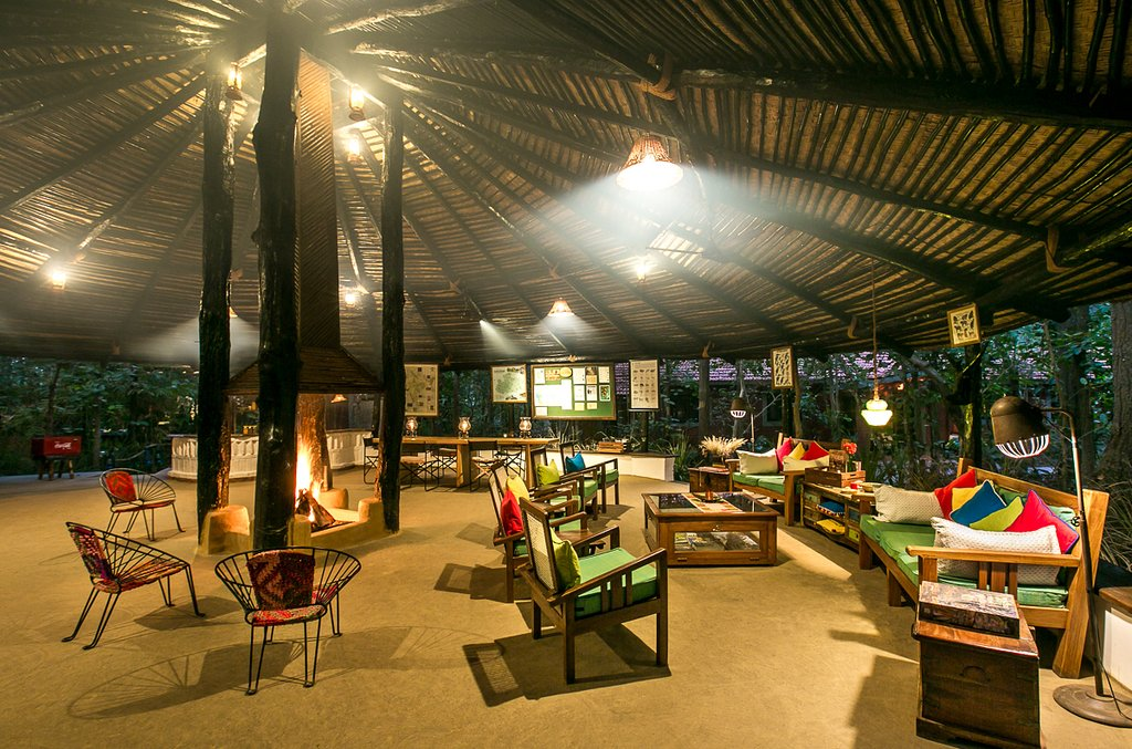 Kanha Jungle sit out area