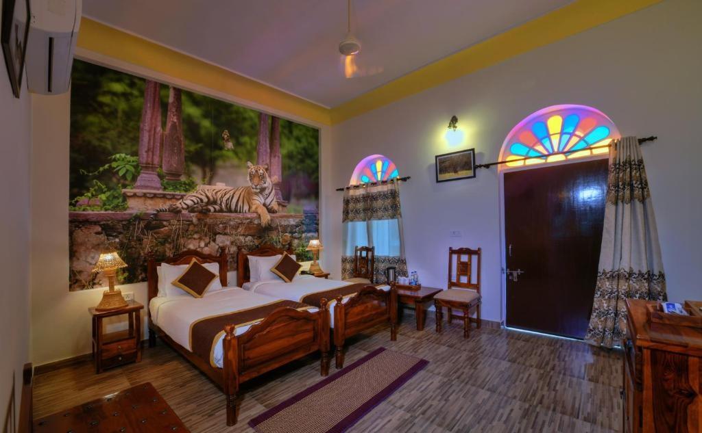 Ranthambore Heritage Haveli Cottage Room1