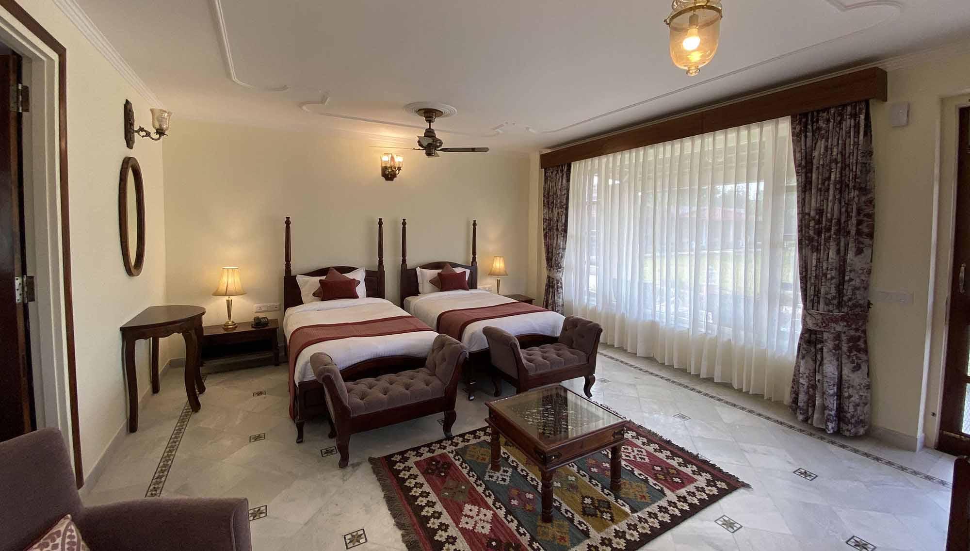 sariska safari lodge room