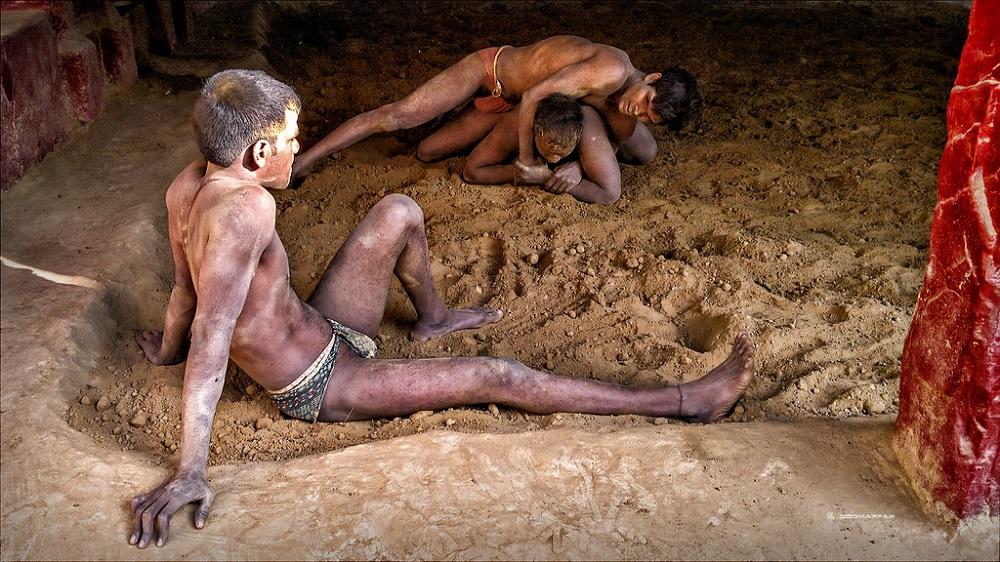 Tulsi Ghat Mud Wrestling Varanasi